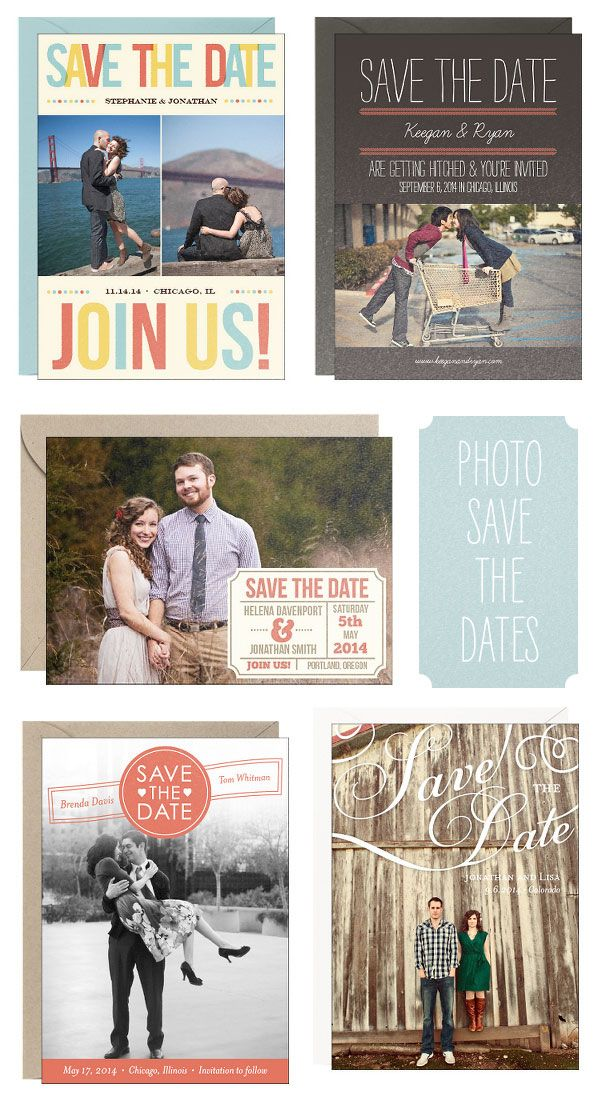 cute ideas for photo save the dates