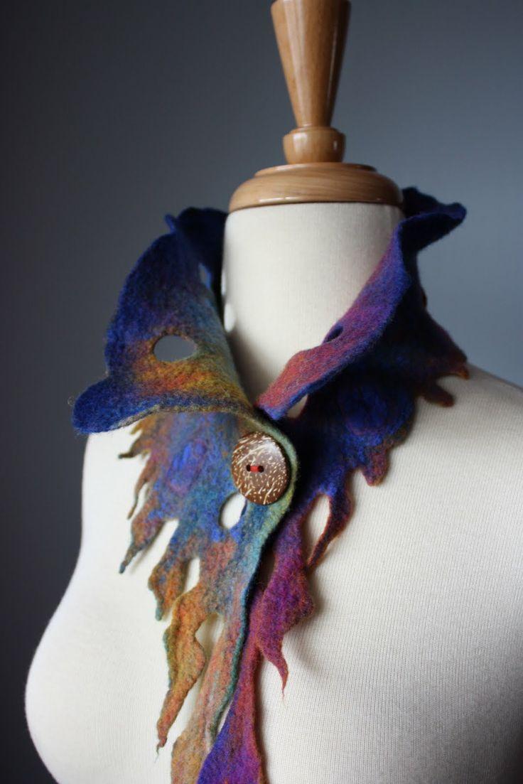 Laboratory of Fashion: ELF Hand felted asymmetrical Avant-garde ...