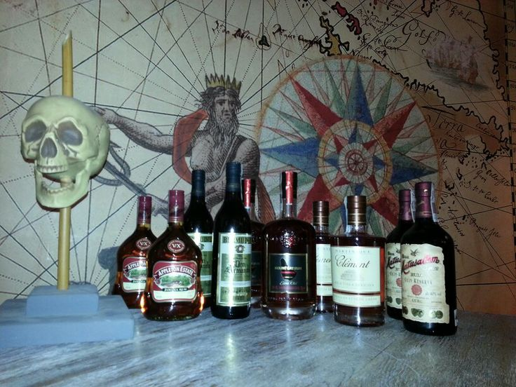 Selection of rums