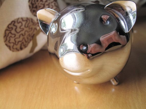vintage raimond piggy bank by oomimmi on Etsy, $15.00