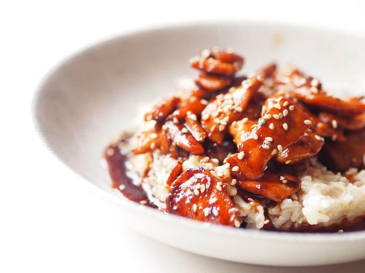 Receta para elaborar pollo teriyaki con arroz y sésamo como si estuvieras en Camden Town.
