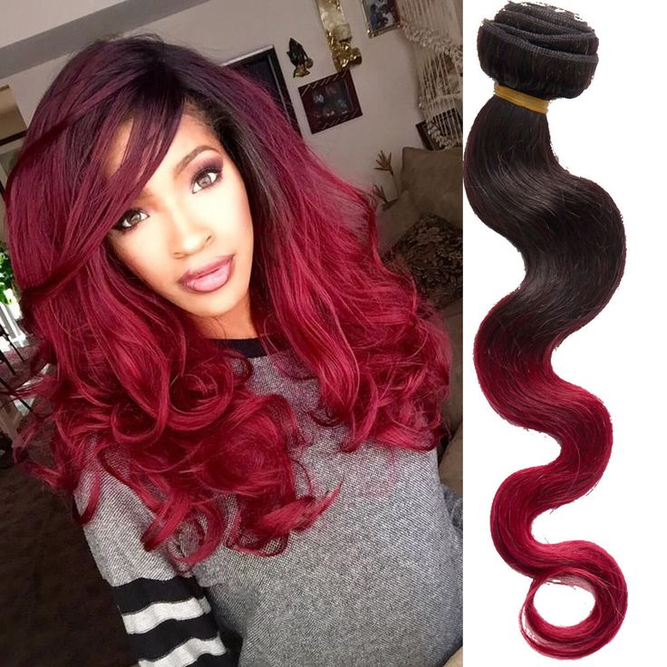 Stylish Grade 6A Real Human Hair Extension 100g Body Wave Brazilian Ombre Weft, #WIGISS #HairExtension