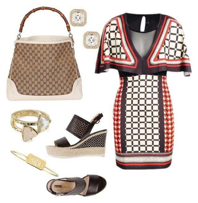 """Let's do lunch!"" by kelly-davis-jones on Polyvore featuring Elvio Zanon, Gucci, Kendra Scott, Nadri and Sarah Chloe"