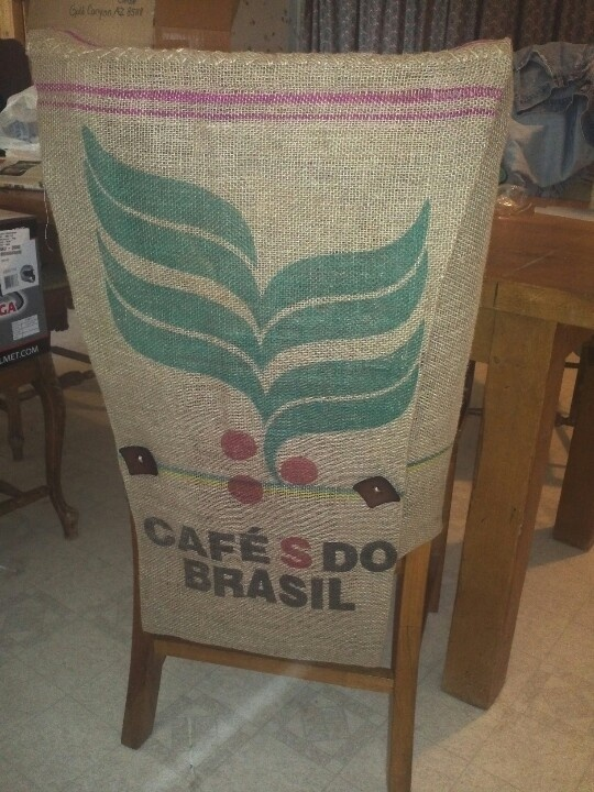 Burlap Chair Cover From Coffee Sack The Non Boring Home