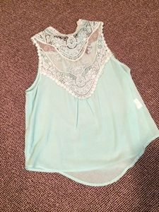 Paper Heart baby blue lace top