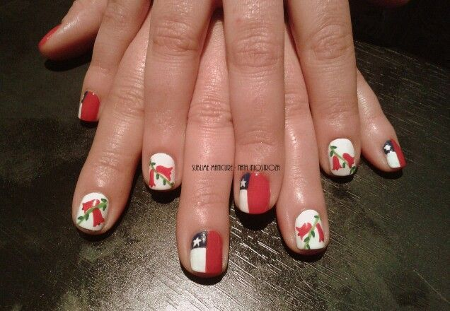 #NailArt por #sublimemanicure #fiestaspatrias #chile