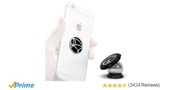 Magnetic Cell Phone Holder by Wuteku | UltraSlim Dashboard Mount | Universal Design | iPhone 8/ 7 / 6 / 5 Galaxy S7 / S6 | For All Vehicles Phones & Tablets | Top Rated by Uber & Lyft Drivers