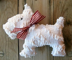 sweet little chenille scottie dog