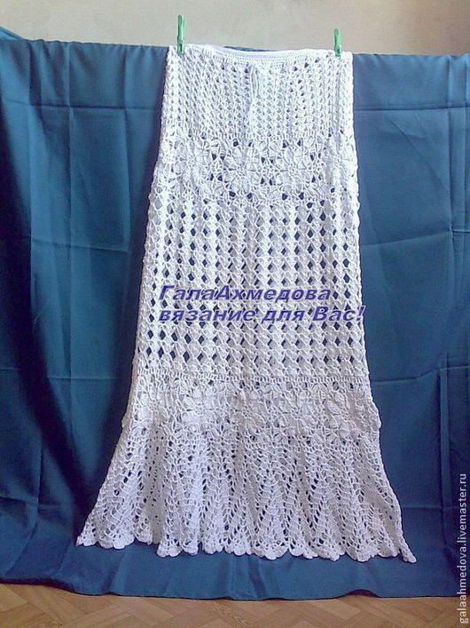 купить длинную юбку, авторская юбка, юбка ручной работы, вязание на заказ, летняя юбка, юбка макси, красивая ажурная юбка, вязаная юбка, нарядная юбка, белая юбка, длинная юбка крючком, для женщин