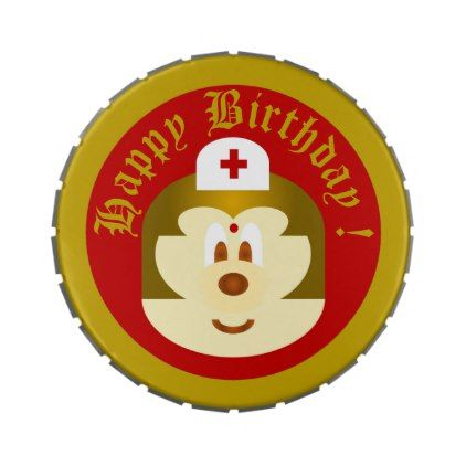 Birthday Souvenir - Nurse 鲍 鲍 Jelly Belly Tin - kids kid child gift idea diy personalize design
