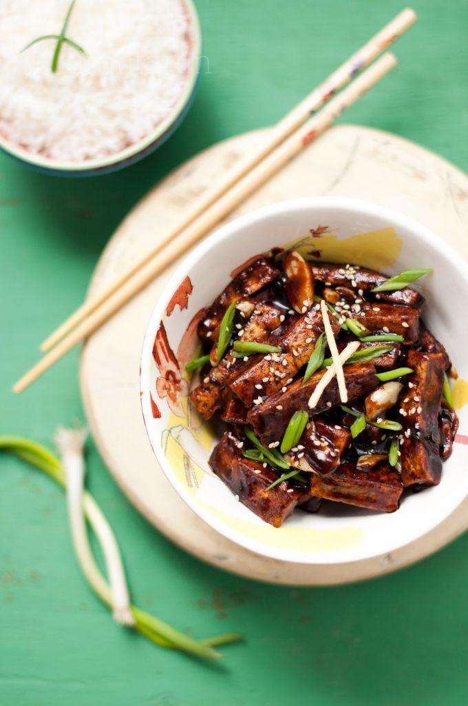 Braised Tofu | KiranTarun.com