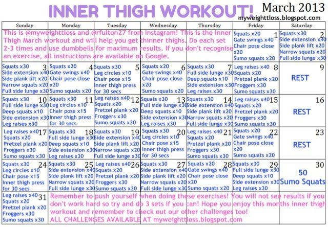 Inner thigh challenge! | Workout Challenges | Pinterest ...