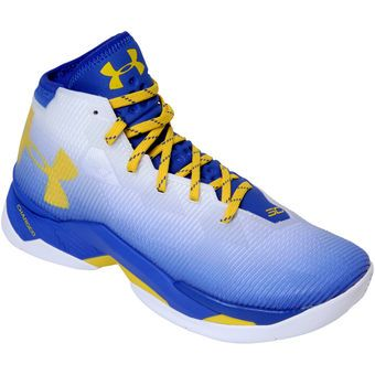 Men's Under Armour White/Royal Top Game Shoes