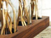 *1* Milchkanne aus Nuss, Blumenvase, Vase Holzvase