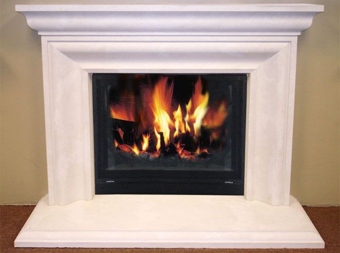 South Coast style custom cast stone fireplace surrounds and ...