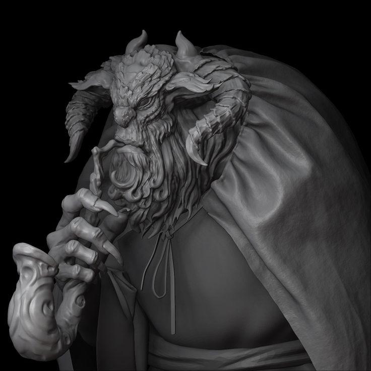 ArtStation - Darkness Monster, li jinggong