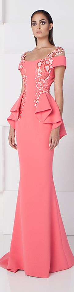 Saiid Kobeisy SS 2016 pink maxi dress women fashion outfit clothing style apparel @roressclothes closet ideas