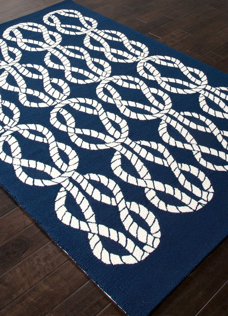 Navy Blue And White Maritime Rope Rug Great Patterns And