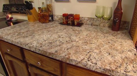 How to Apply Faux Granite Kitchen Countertop Paint via Today's Homeowner with Danny Lipford