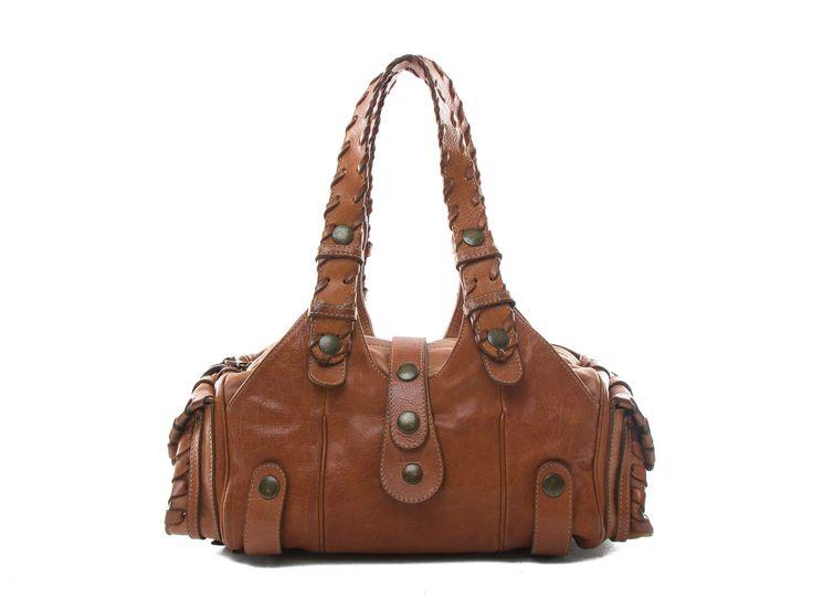 Authentic Chloe brown tan Leather Silverado Bag