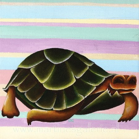 Schilderij schildpad