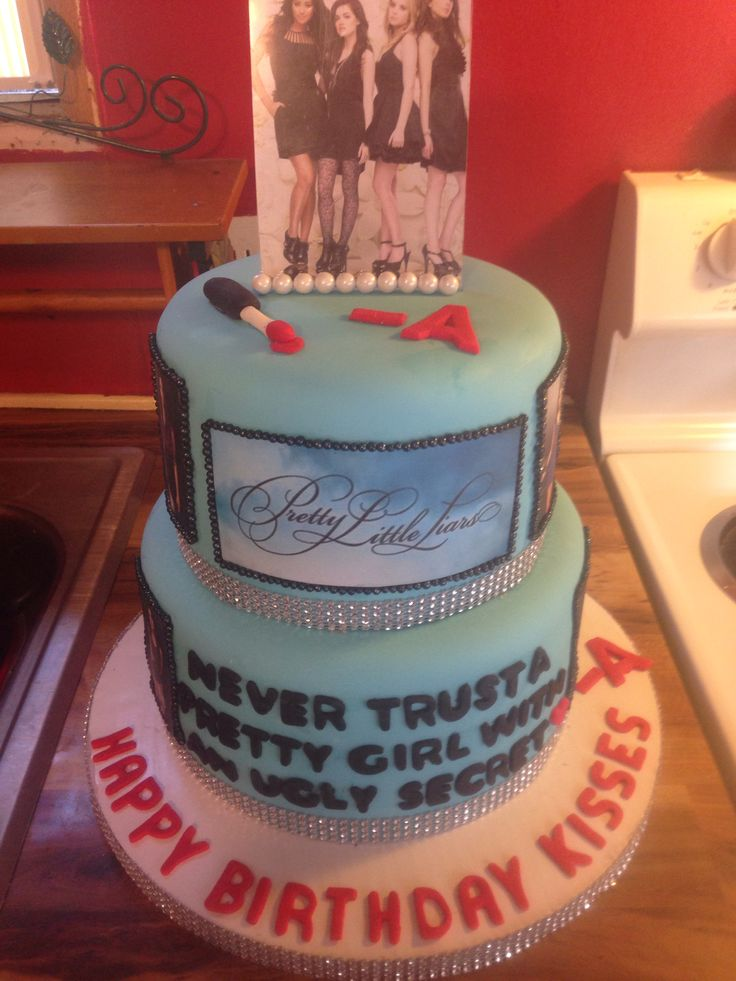 Pretty little liars cakes @Corina Thue Miranda @Rosemary F.L. Miranda my birthday is in one week, just saying..