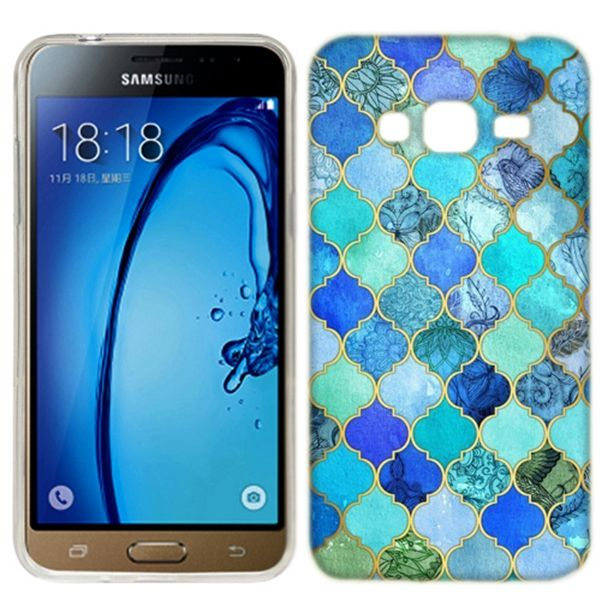 Bohemian Tiles In Blue Samsung Galaxy J3 Phone Cover Case