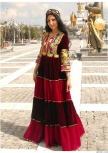 Balochi Girl in a beautiful traditional Dress.