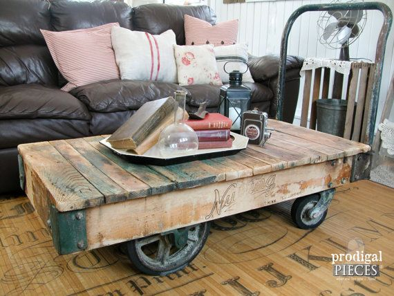 Good Industrial Cart On Wheels Table | Industrial Cart Coffee Table | Yellow  Chair Market | Pallet Tables | Pinterest | Cart Coffee Table, Industrial  And Coffee