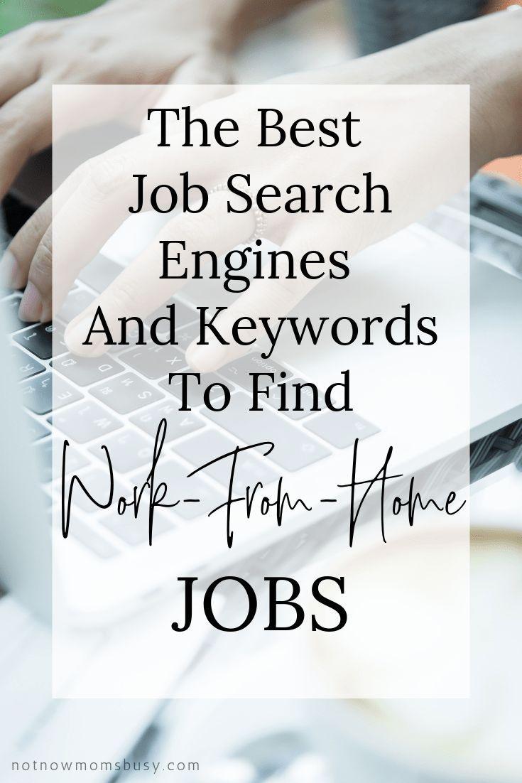 Die besten Jobsuchmaschinen und Stichwörter, um Jobs von zu Hause aus zu finden