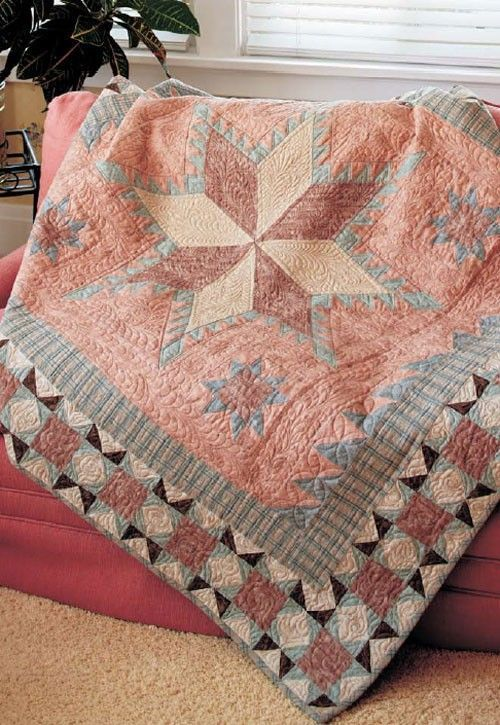 European Feathered Star Quilt