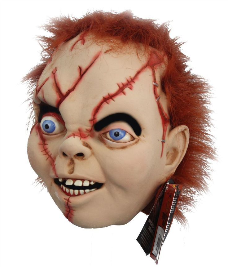 Officially Licensed Bride Of Chucky Evil Doll Full Latex Mask Halloween - Dragons Den Fancy Dress Limited