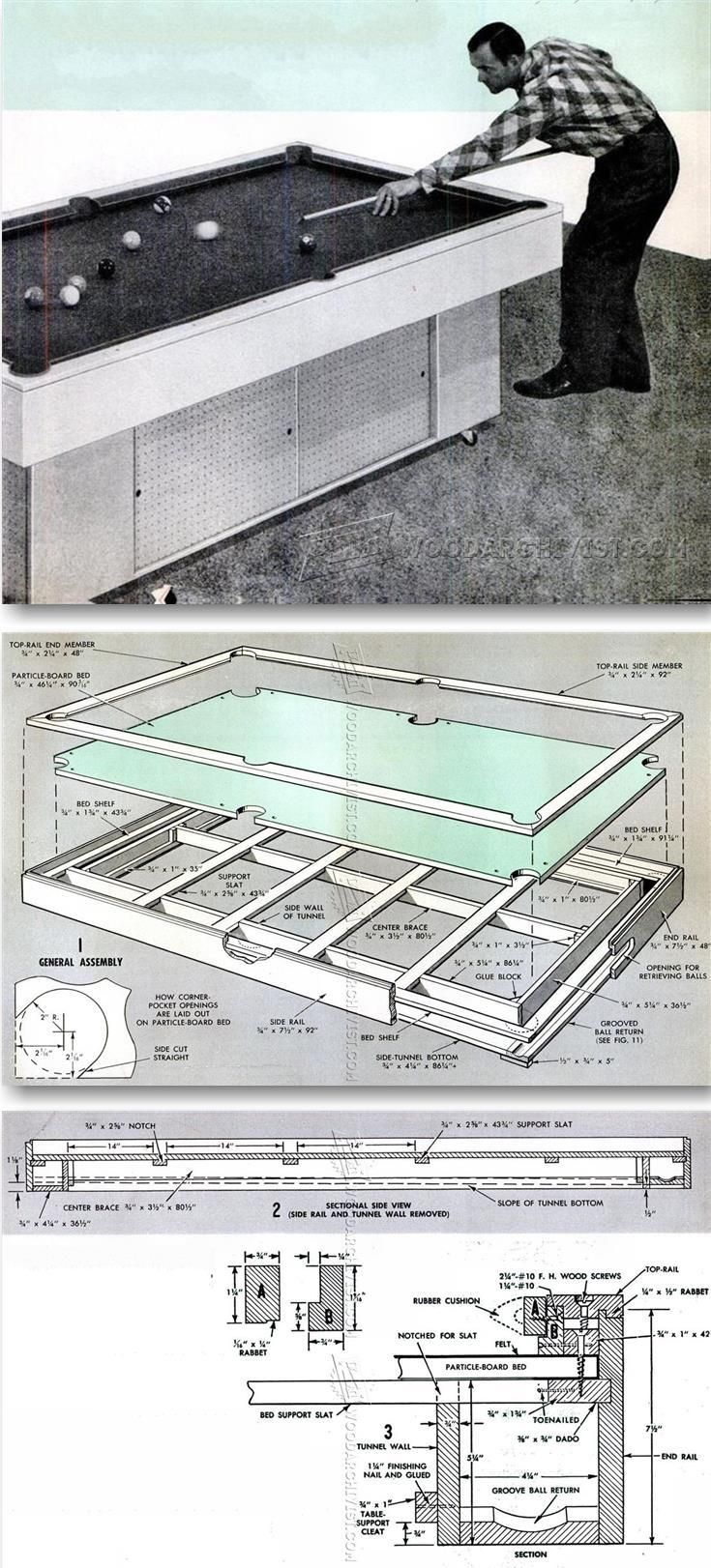 DIY Pool Table - Woodworking Plans and Projects | WoodArchivist.com
