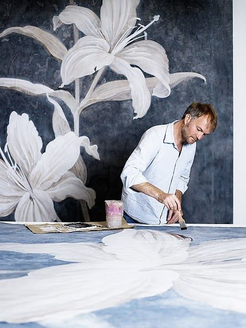 Artist Wouter Dolk - as wallpaper in living