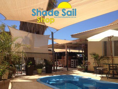 We ship our shade sails world wide. Pre made quality shade sails from The Shady Ladies at The Shade Sail Shop #shadesails