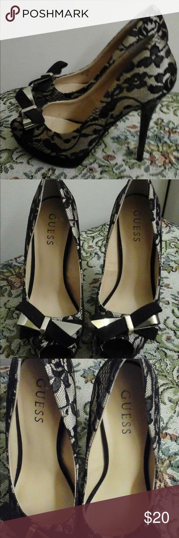 Guess shoes Beautiful Guess shoes. Size 7 1/2 used bat in good condition. Guess Shoes Heels