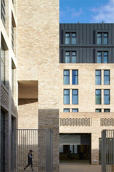 Spring Mews, The Manser Practice #brick #detail #zinc #window #student #home #house #vauxhall #modern #minimal #hitandmiss