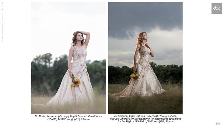 """DPC Wedding Photography Course  These images were shot on Sunday to show the difference between using natural light and flash. Using Flash allows you to """"underexpose"""" the scene with your camera and then """"punch-out"""" your subject with flash. With this example, I showed the class how the technique can be used in a very subtle way. It does not need to be overly dramatic always, i.e. for softer bridal portraits, but at the same capture the impact of the surroundings."""