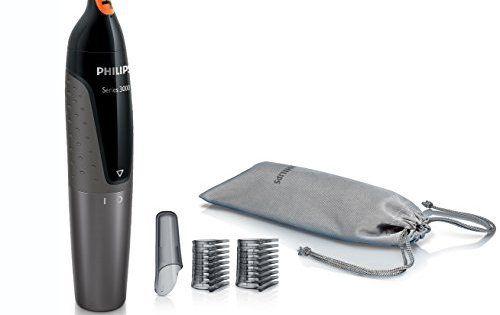 Philips NT3160/10 Tondeuse Nez-Oreilles Series 3000 100% étanche: La technologie ProtecTube évite les tiraillements, irritations et…