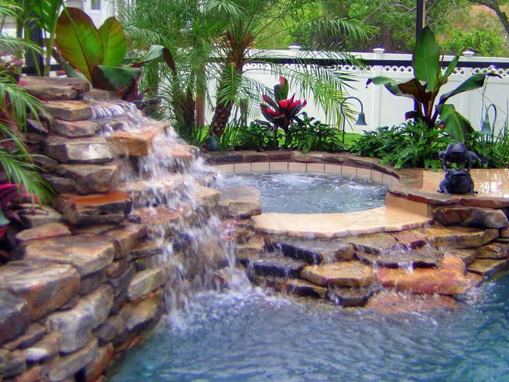 Swimming Pools With Waterfalls best 25+ pool waterfall ideas on pinterest | grotto pool, outdoor
