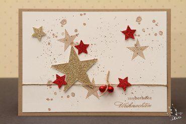 rot gold weihnachten karten weihnachtskarten basteln. Black Bedroom Furniture Sets. Home Design Ideas
