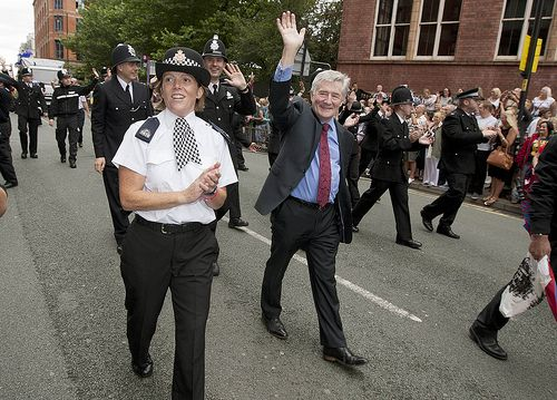 Tony Lloyd in the parade. Officers and staff from Greater Manchester Police (GMP) took part in Manchester's Pride parade on Saturday 24 August. The annual event, watched by around 200,000 people, is organised by Police with Pride, which consists of lesbian, gay, bisexual and trans (LGBT) representatives from forces across the North West.