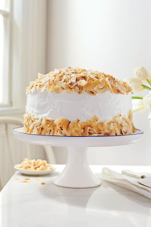 Look for packaged coconut shavings in your grocer's natural foods section.Recipe: Coconut Cream Cake