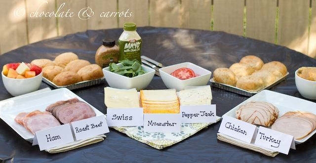 Simple Sandwich Buffet - great idea for entertaining OR large families.