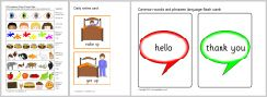 Printable ESL/Vocabularly building resources and flashcards.