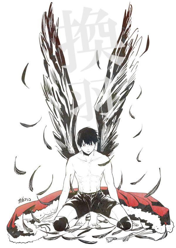 This is a beautiful fan art! Kudos to the creator! / Haikyuu / hq / Kageyama / King of the Court / Hinata Shoyo / Karasuno / ハイキュー!!ログまとめ⑬ [19]