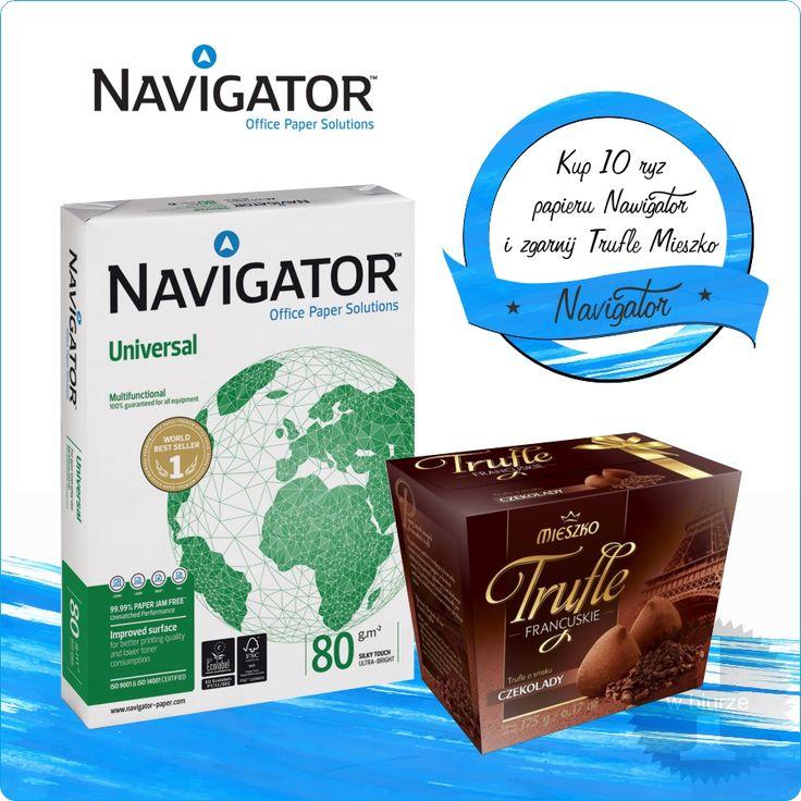 Kup min. 10 ryz papieru ksero NAVIGATOR a otrzymasz słodku upominek Gratis ! https://eazbiuro.pl/promocje/160-slodka_promocja_navigator  #Azbiuro #AzbiuroNavigator