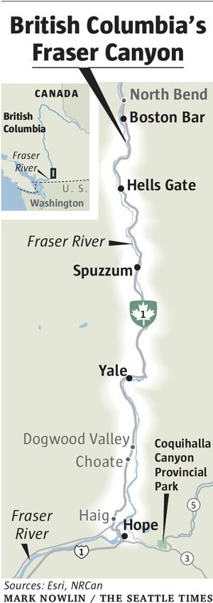 B.C.'s scenic Fraser Canyon has hikes, tunnels, tram — and a great river   The Seattle Times