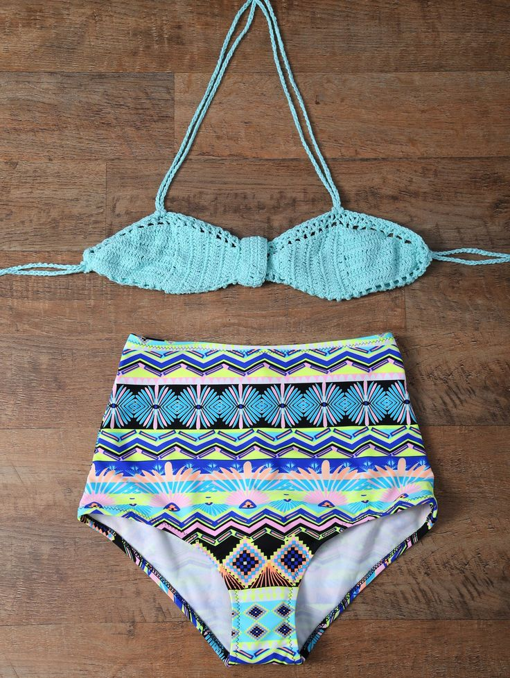 Knitted Multiway High Rise Bikini — 19.40 € ---------------------Size: 2XL Color: TURQUOISE