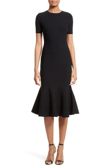 Free shipping and returns on Milly Mermaid Hem Midi Dress at Nordstrom.com. Pre-order this style today! Add to Shopping Bag to view approximate ship date. You'll be charged only when your item ships.Sleek and supple, a curve-skimming knit dress is just a bit more fun with a flouncy ruffle kicking out with every step.